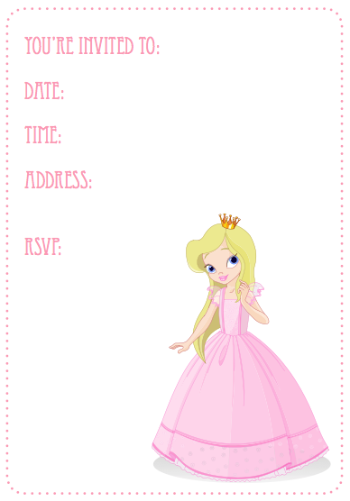 Printable princess invites birthday printables pinterest printable princess invites filmwisefo Image collections