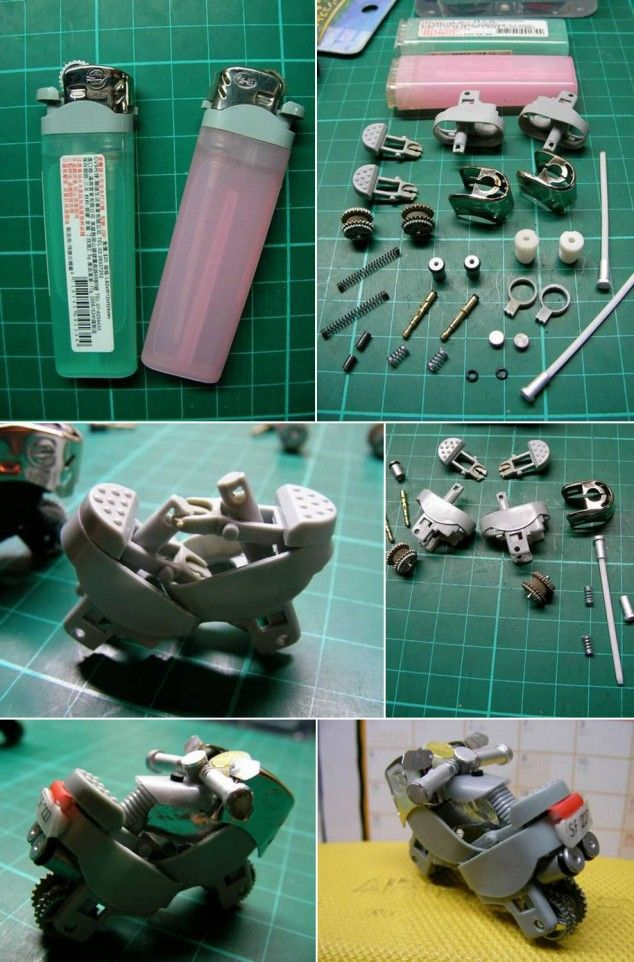 How to make toy motorcycle with used lighters step by step diy how to make toy motorcycle with used lighters step by step diy tutorial instructions how solutioingenieria Choice Image