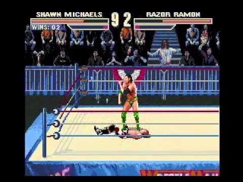WWF Wrestlemania The Arcade Game Genesis Shawn Michaels Playthrough 1/2