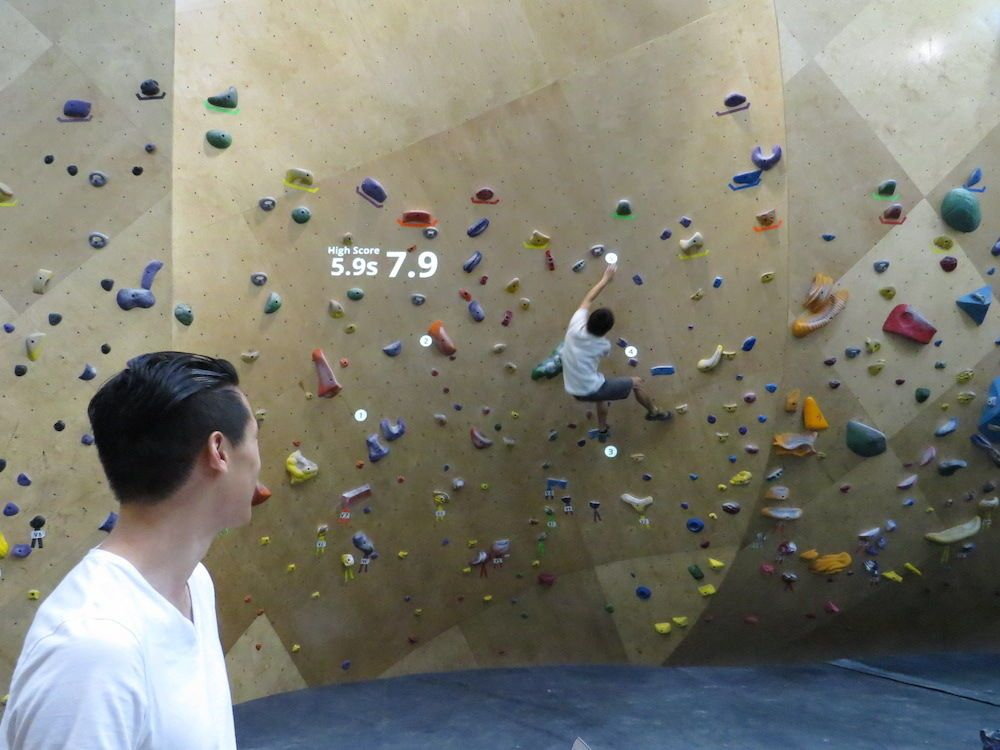 Rock Climbing Meets Augmented Reality In New York