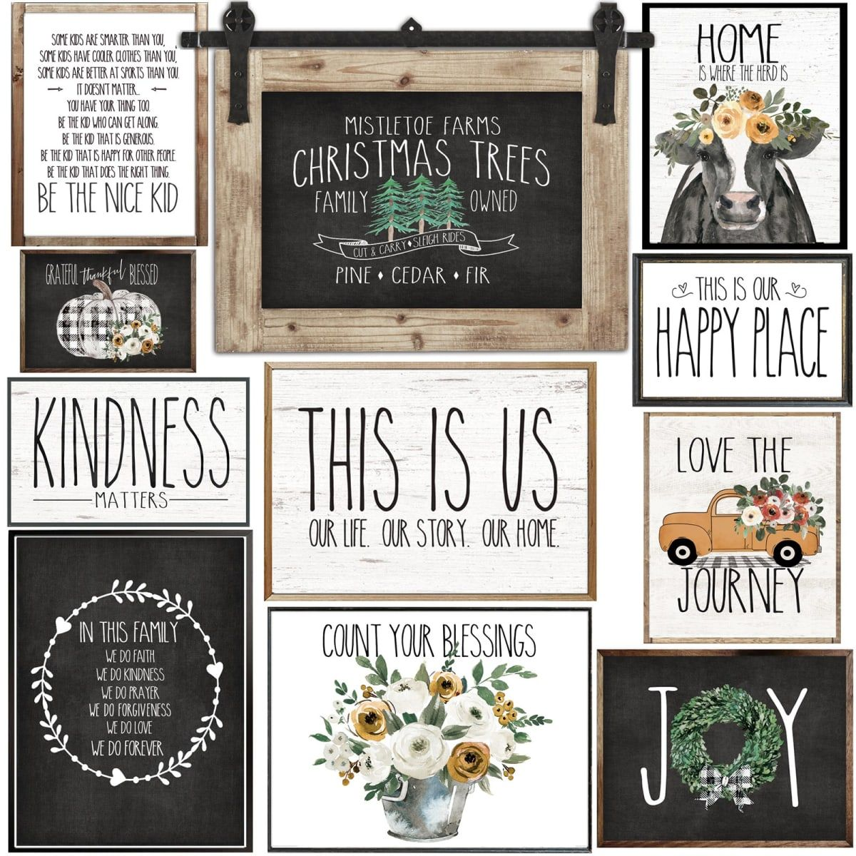 Hello Farmhouse Prints Only 3 87 Shipping Cool Things To Buy Prints Frugal Decor