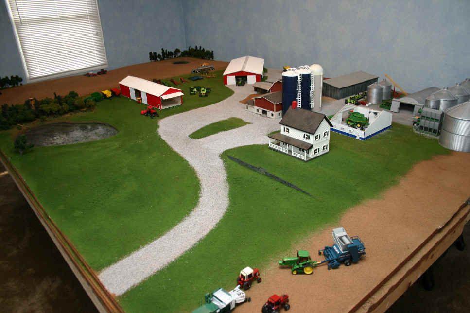 Model farm displays 1 64 custom farm toys pinterest for 1 64 farm layouts