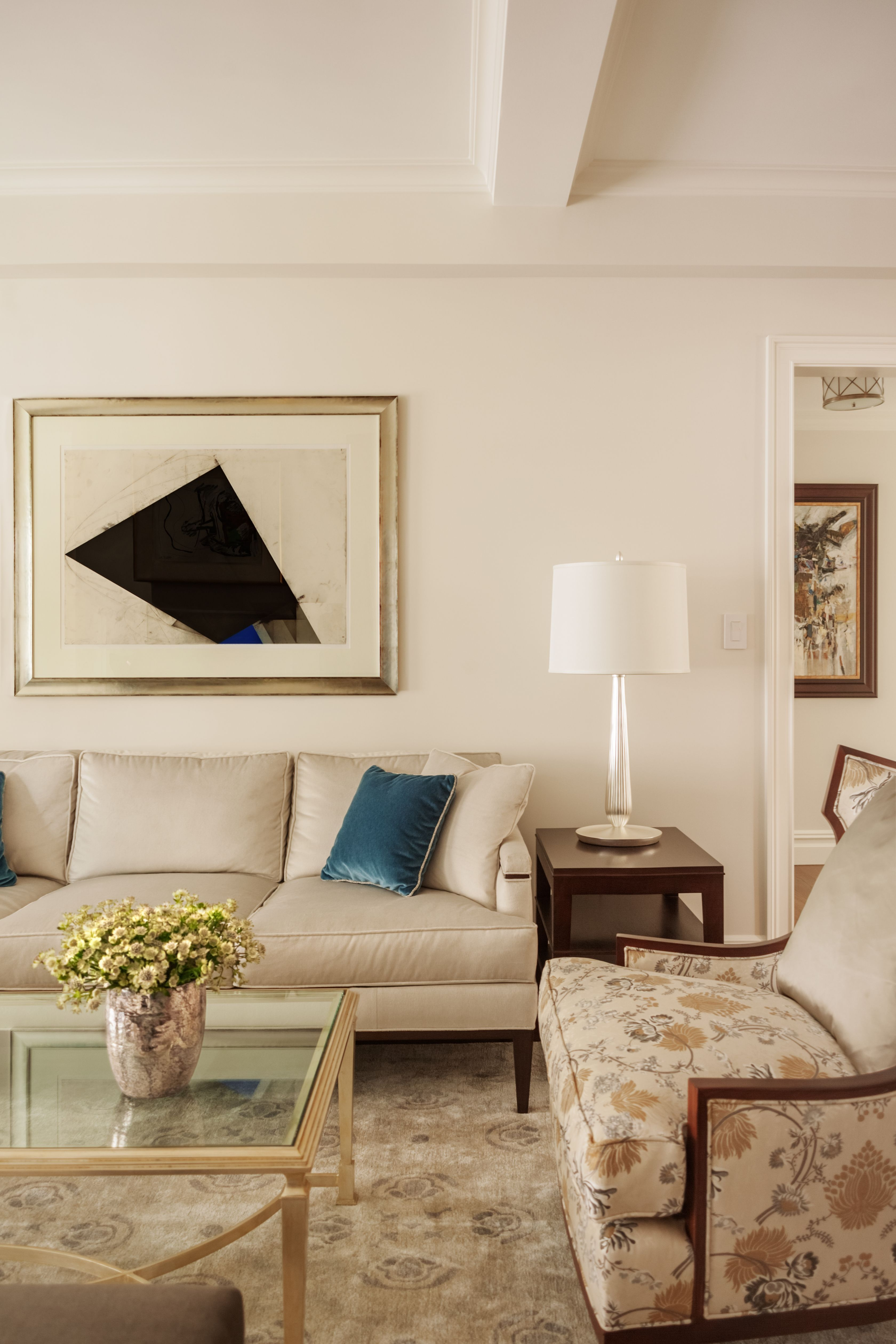 Side Lamps For Living Room Park Avenue Pied à Terre By Leonora Mahle Llc Sofa By Ny Custom