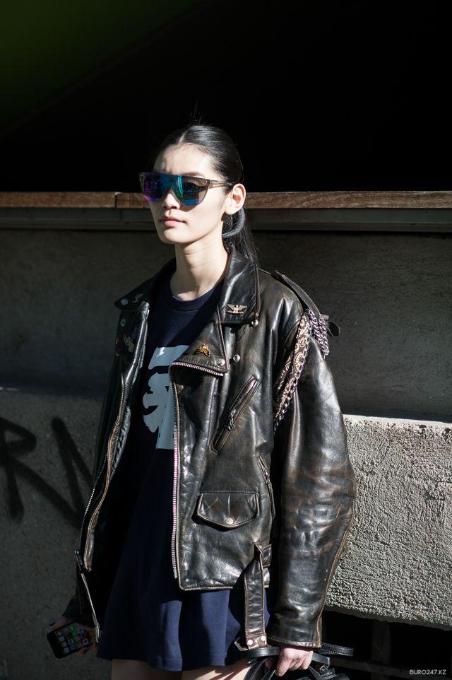 #MingXi & her kick ass moto. #offduty in Paris.