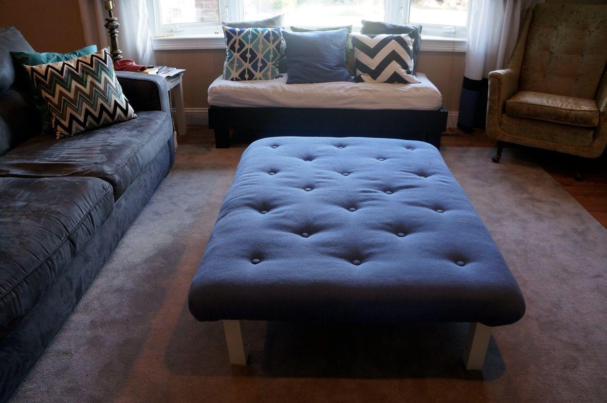 Create Your Own Tufted Ottoman Ikea Lack Coffee Table Ikea Lack Table Lack Coffee Table [ 785 x 1181 Pixel ]