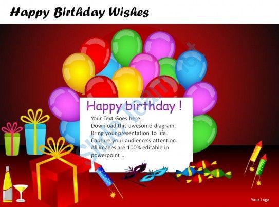 happy birthday wishes powerpoint presentation slides Slide11 - birthday wish template