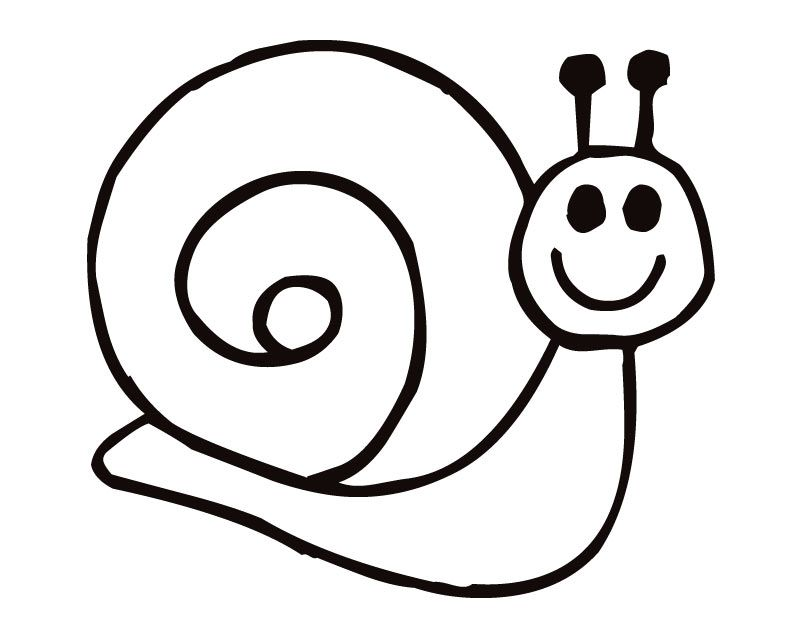 Printable Snail coloring page from