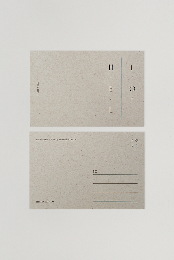 Billie Postcards Branding Postcard Design Postcard Layout