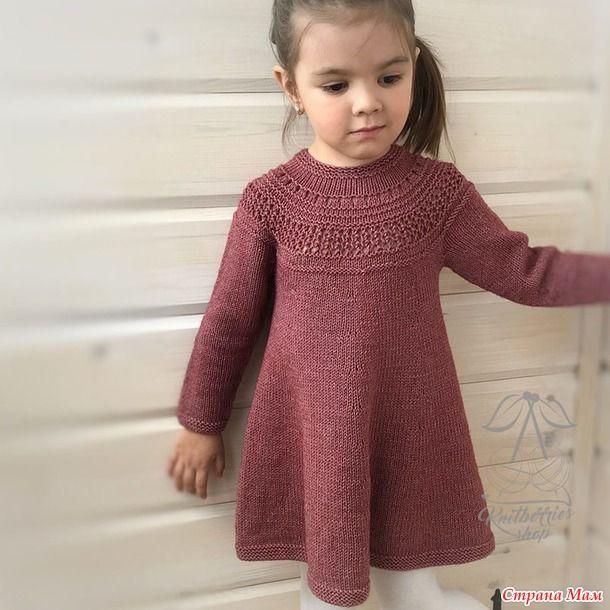 9c7fb64a31e0928 Детское платье спицами