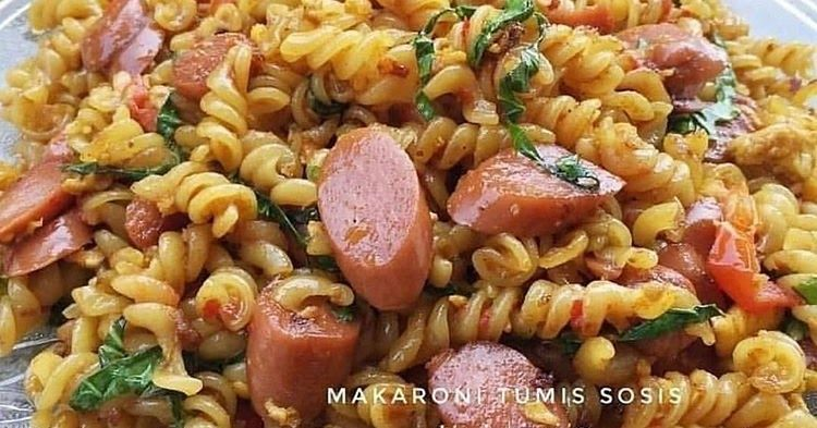 Practical And Easy Recipe For Spaced Special Sausage Macaroni Practical Easy Recipe Sp Di 2021 Makaroni Resep Tumis