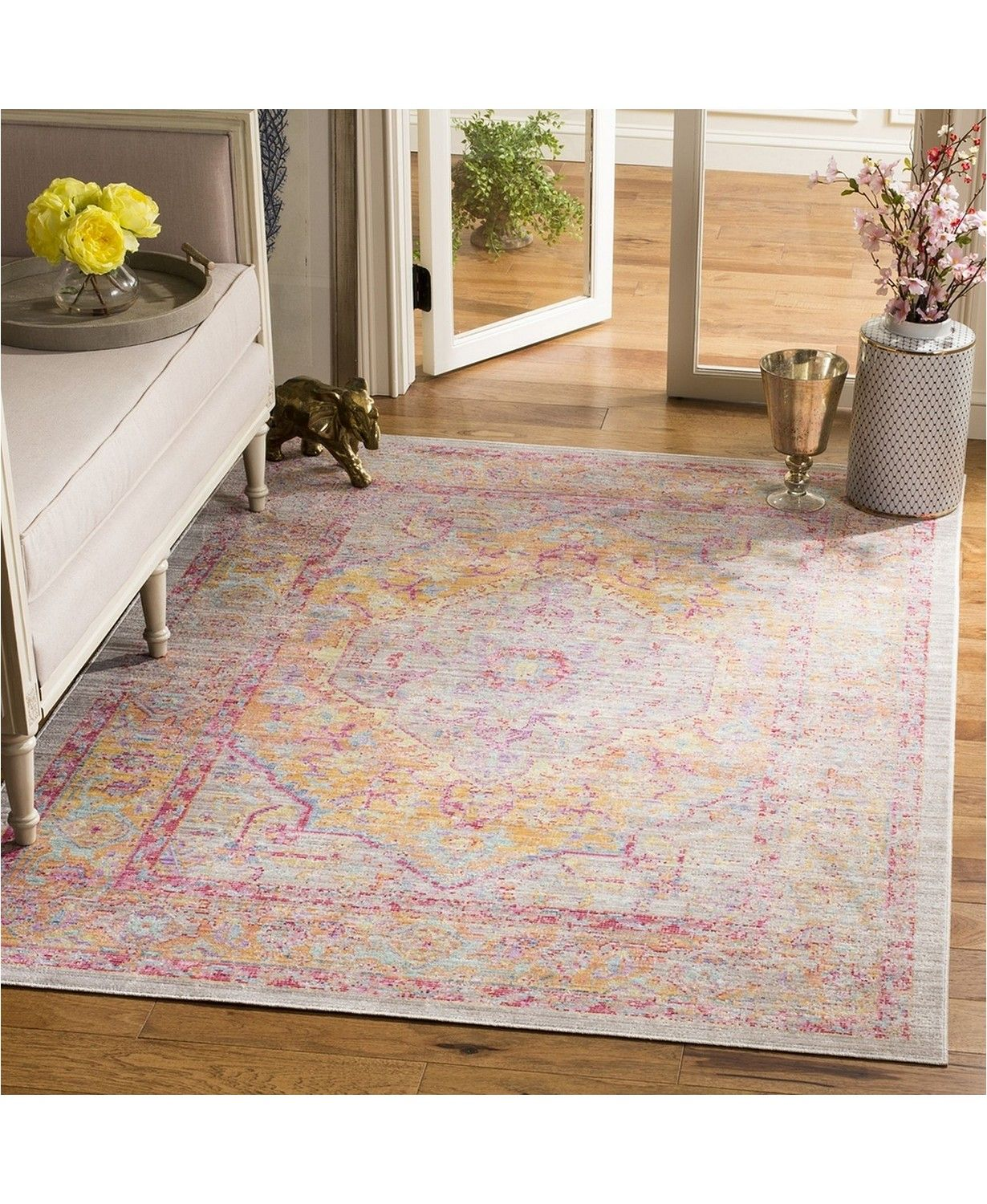 Safavieh Windsor Gray And Gold 5 X 7 Area Rug Reviews Rugs