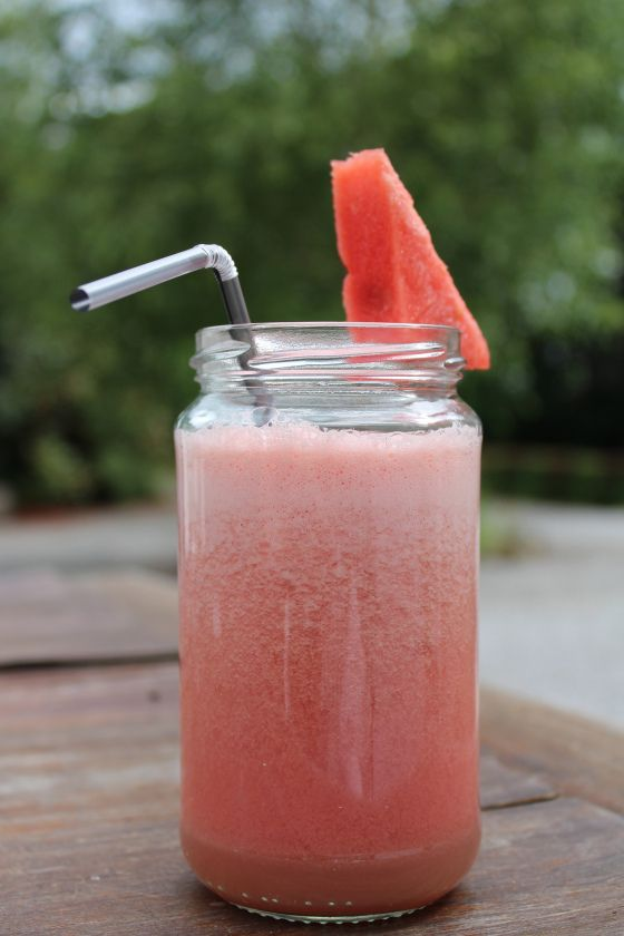 Light, healthy and refreshing watermelon smoothie.