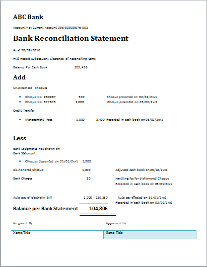 Attractive The Bank Reconciliation Template Is Hereby Developed To Assist People In  This Regard. One Can Use This Stencil To Carve Some Real Smart Tools That  Can Be ...