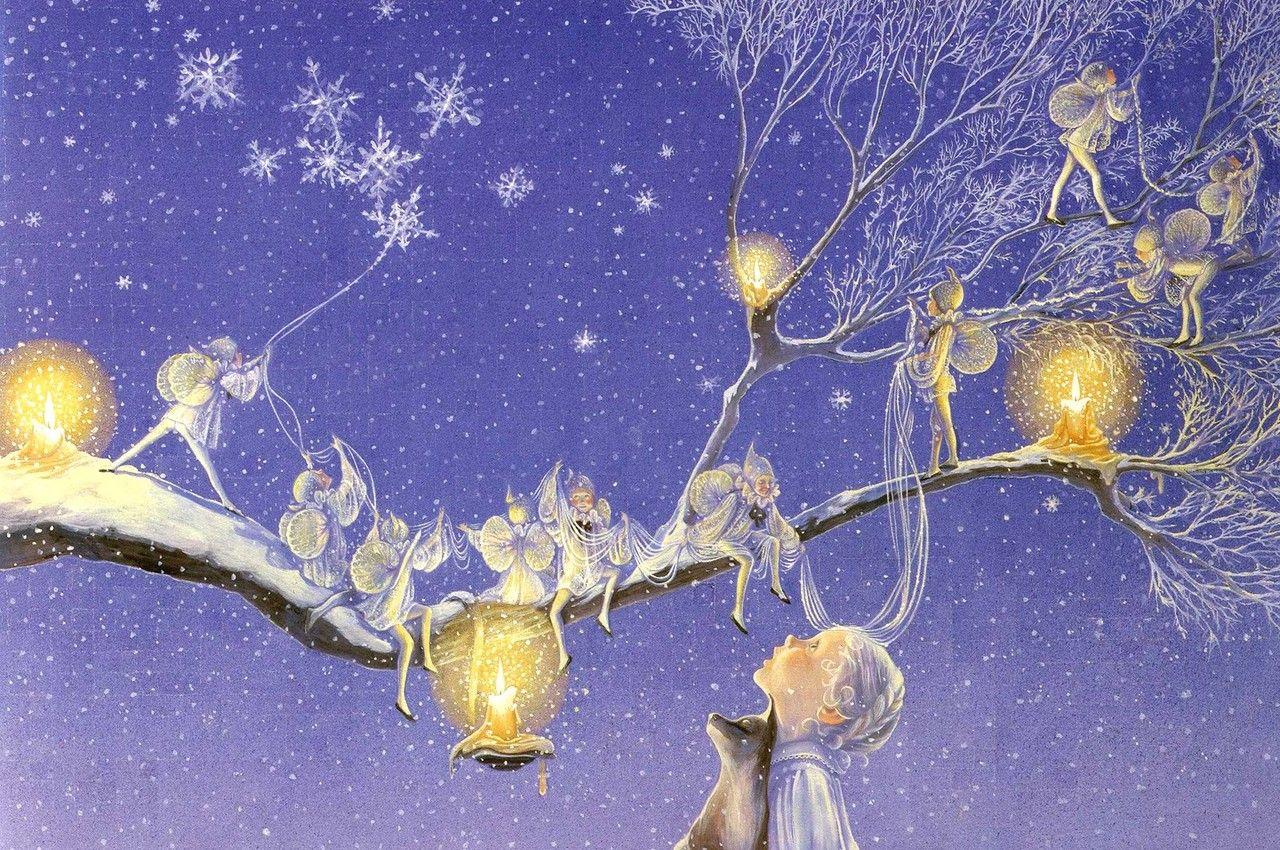 рамки открытки волшебных снов картины маслом холсте