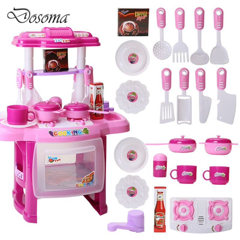 Cool Kids Play House Toys Girl Light Music Tableware Sets Baby Rhpinterest: Girl Kitchen Playset At Home Improvement Advice