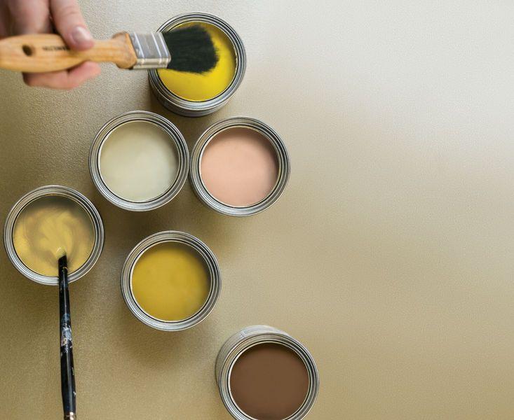 Selbst zum Pinsel greifen! - mit den Dulux Trendfarben #Dulux - farbe ocker kombinieren goldocker