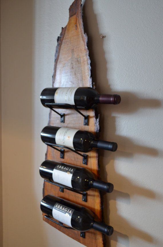 Natural Wood With Live Edge Wine Rack Dc Apartment