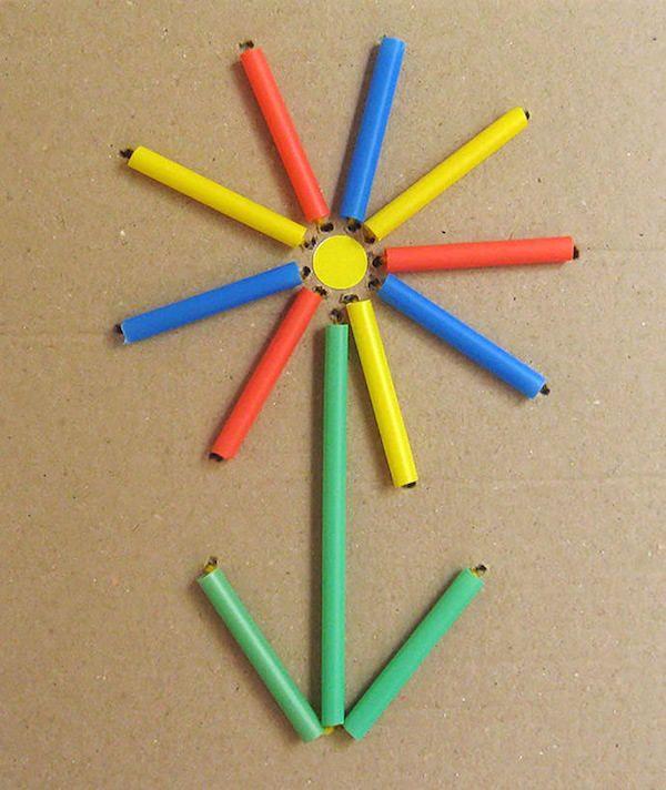 Manualidades para niños con pajitas, ¡bordamos   Manualidades and Craft