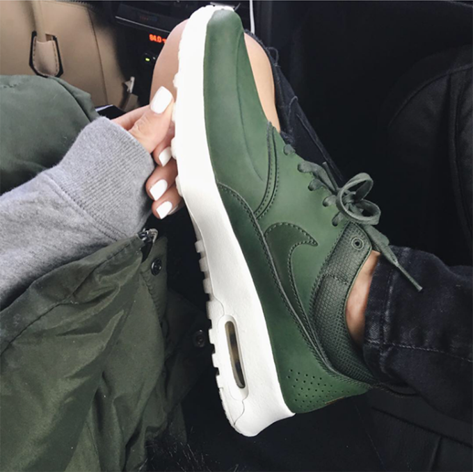 huge selection of b68db c7f9d Olive and Leather Nike