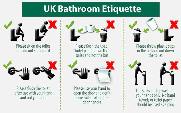 British Bathroom Etiquette Potty Humor Because This Crap Is Funny