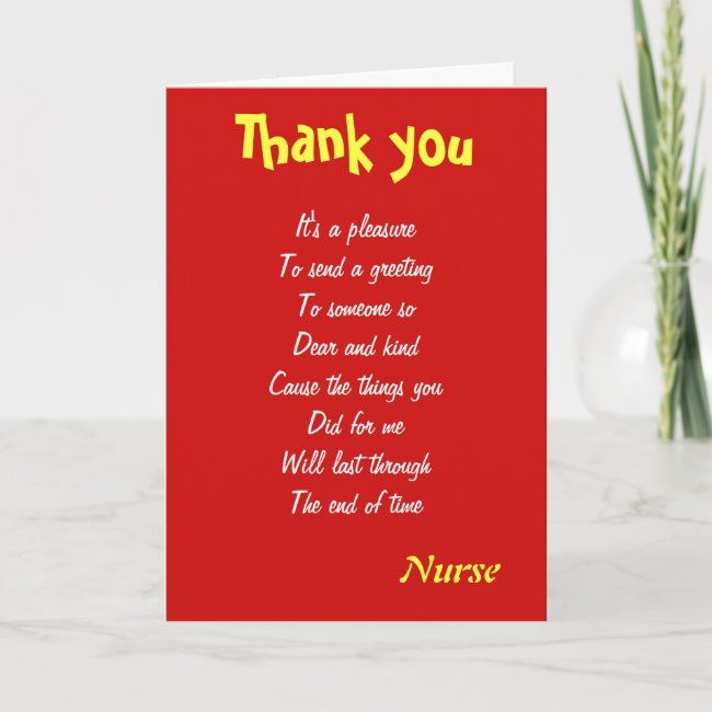 Nurse Thank You Cards Zazzle Com Birthday Card For Aunt Birthday Thank You Cards Birthday Cards For Brother