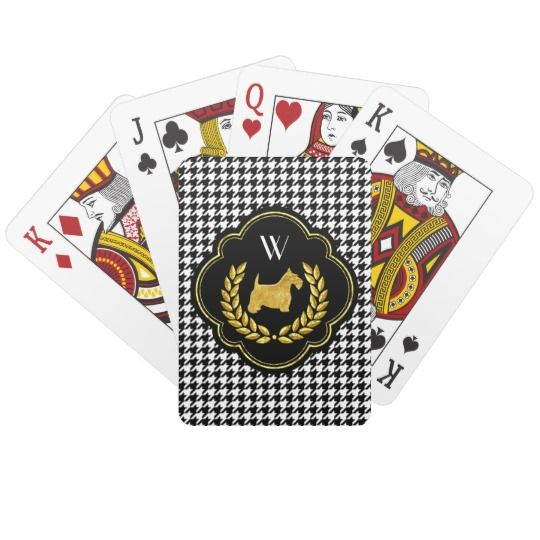 Royal Scottie Winning Hand Monogram Deck Of Cards