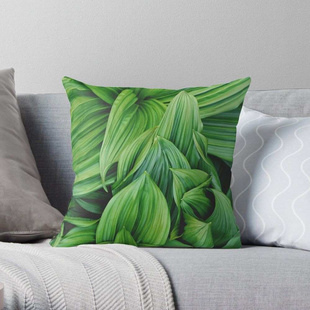Get My Art Printed On Awesome Products Support Me At Redbubble Rbandme Https Www Redbubble Com Shop P In 2020 Throw Pillows Designer Throw Pillows Tropical Leaves