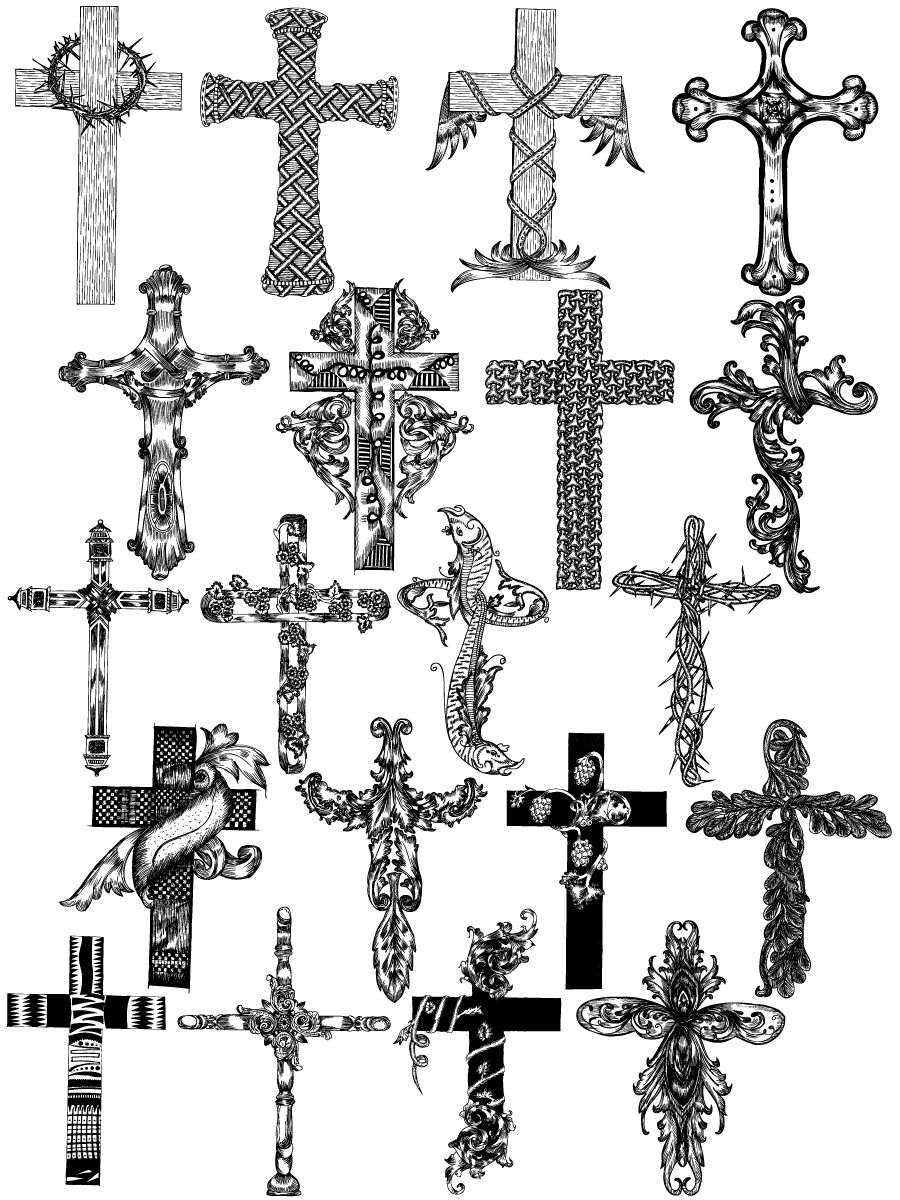 Hand Drawn Cross (With images) Cross vector, How to draw