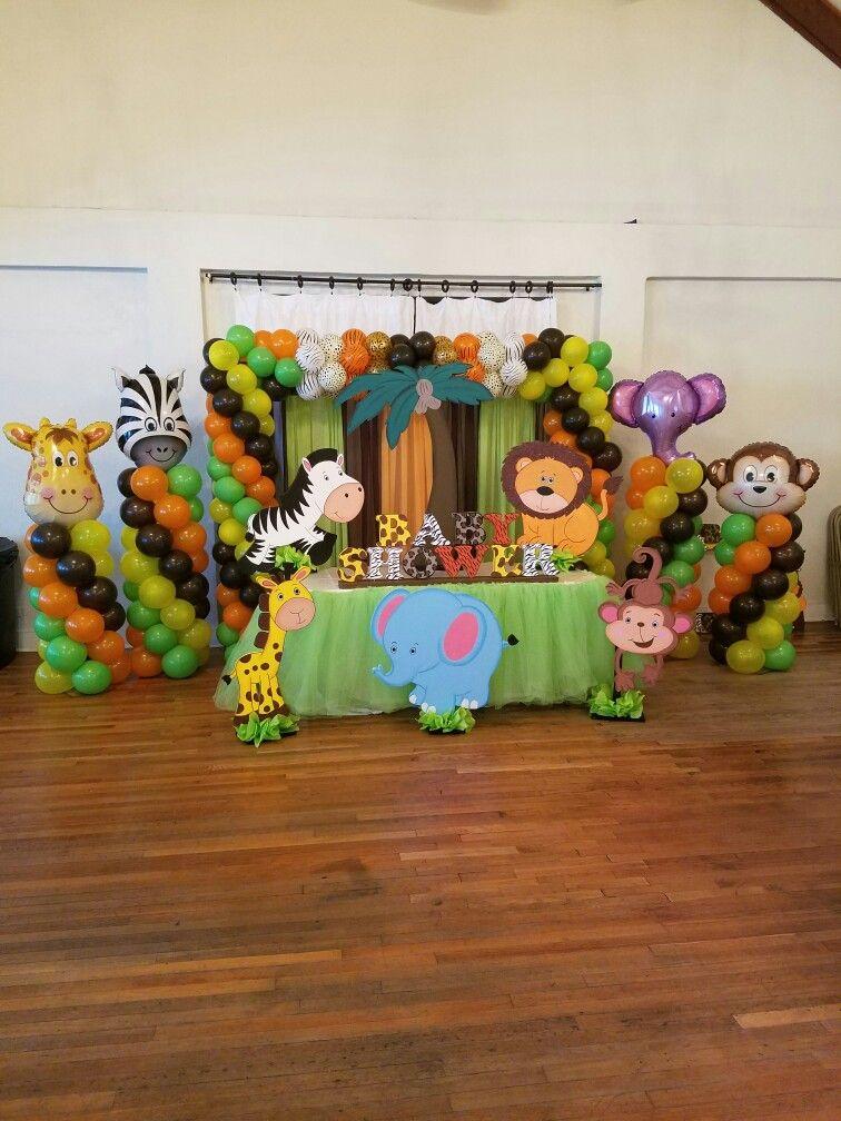 Safari Baby Shower Mesas Principales Pinterest Babies