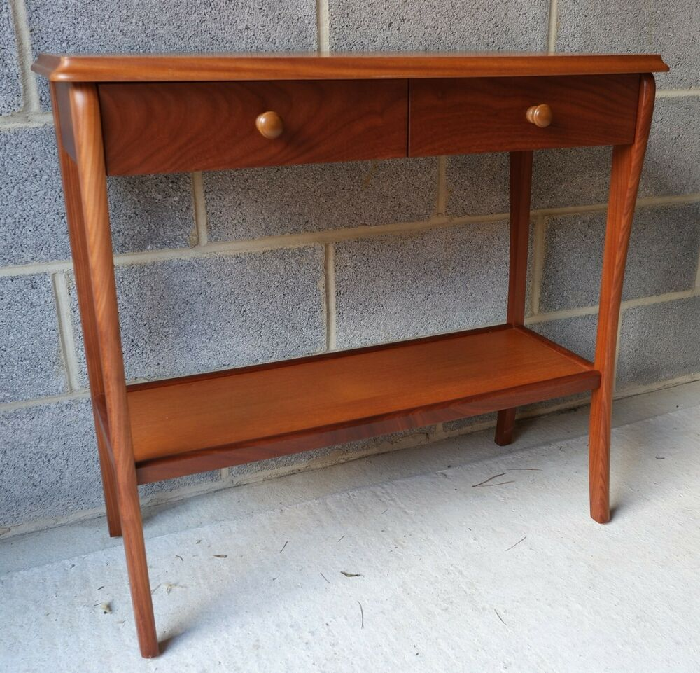 Details About Sutcliffe Trafalgar Hall Table In Teak Finish High Quality Unit Collect In Devon Hall Table Teak Table