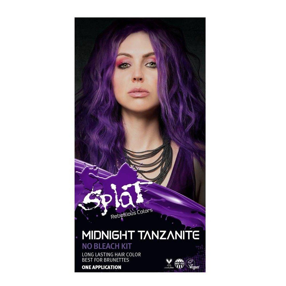 Splat Midnight Hair Color Tanzanite 6 0oz In 2020 Splat Midnight Hair Color Midnight Hair Splat Hair Color