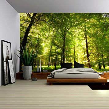 Wall Art Prints Wall Paper Design New Zealand Https Www Walltattoo Nz Large Wall Murals Forest Mural Forest Wall Mural