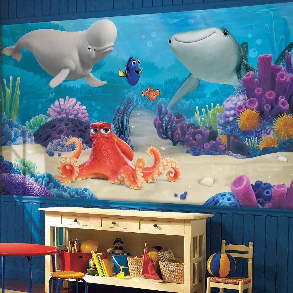 Finding Dory Chair Rail Wall Mural