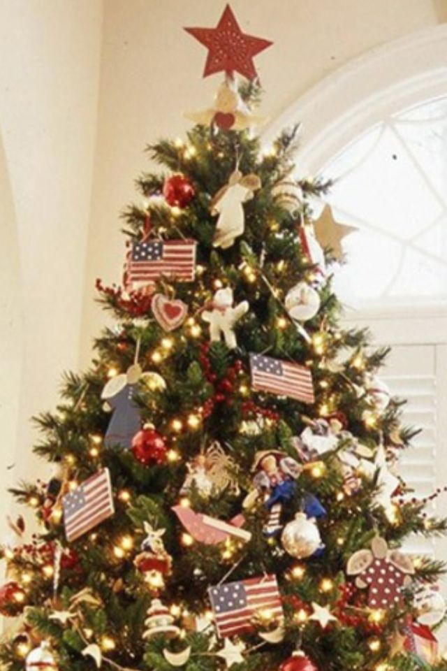 Patriotic Tree for Calebs room Pinterest Holidays and