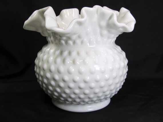 Fenton Hobnail Vase I Have Two Of These One Is Bigger Than The