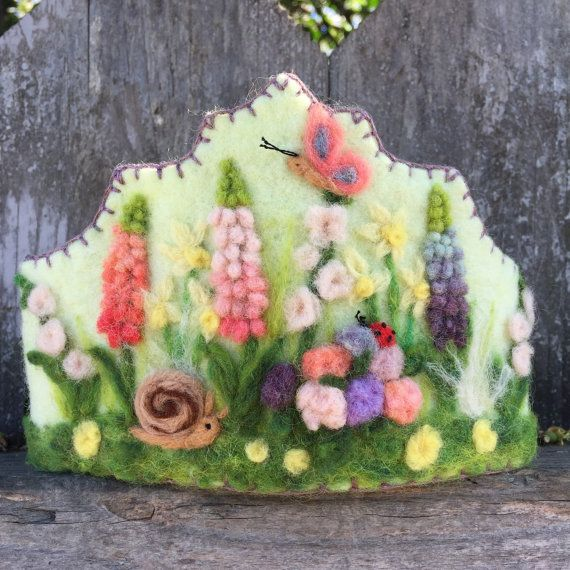 Felt Crown , Birthday Crown, Waldorf Crown Spring Garden
