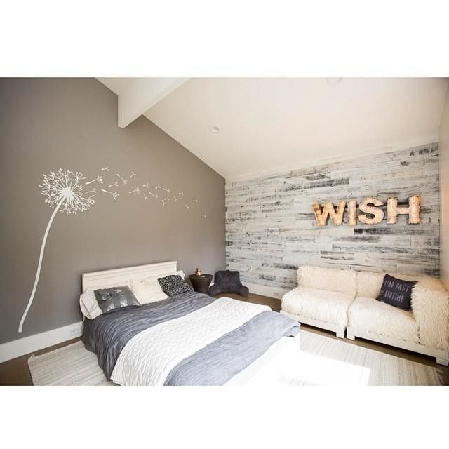 Wood Accent Wall Bedroom Ideas: West Elm Stikwood Wall Decor, Reclaimed Weathered Wood, 20