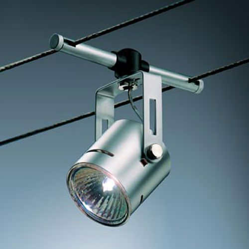 Bruck Lighting Systems High Line Rony Matte Chrome Cable
