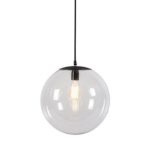 Qazqa modern pendelleuchte pendellampe hängelampe lampe leuchte pallon 35 transparent innenbeleuchtung