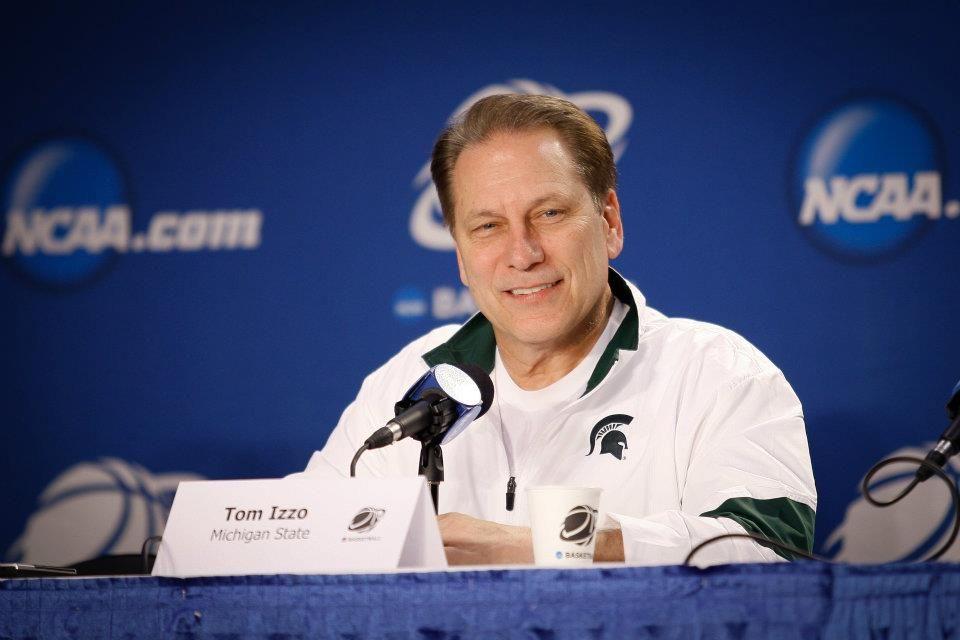 Tom Izzo Spartan head coach, sent by the gods