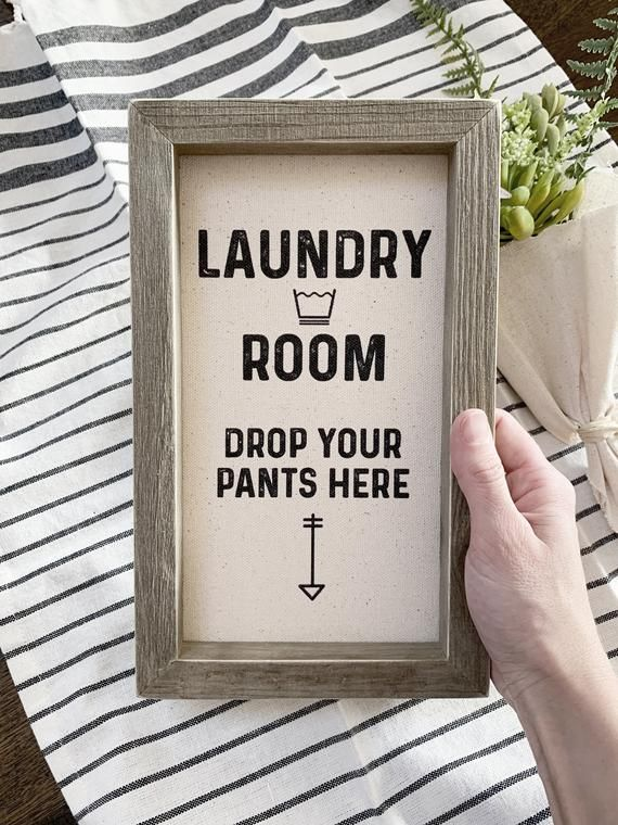 10x6 Funny Laundry Room Sign Drop Your Pants Here Laundry Humor Mudroom Wall Decor Typographic Wood Sign Wood And Cotton Canvas Laundry Humor Laundry Room Signs Laundry Room
