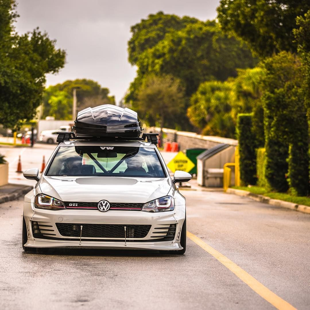 Volkswagen Gold MK7 GTI RS 'Rocket Bunny' Wide Body Modified