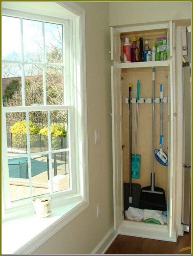 Free Standing Broom Closet Cabinet Broom Closet Interior Design Kitchen Small Broom Storage