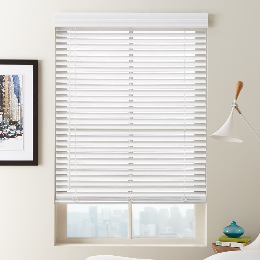 1 1 2 cordless faux wood blinds from selectblinds com are perfect for bedroom windows privacy and light control right at your fingertips