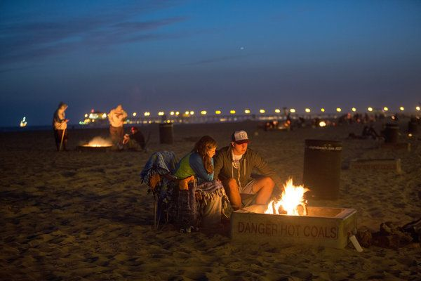 Is No Fun Sign Next California Beach Bonfires May Be Doused