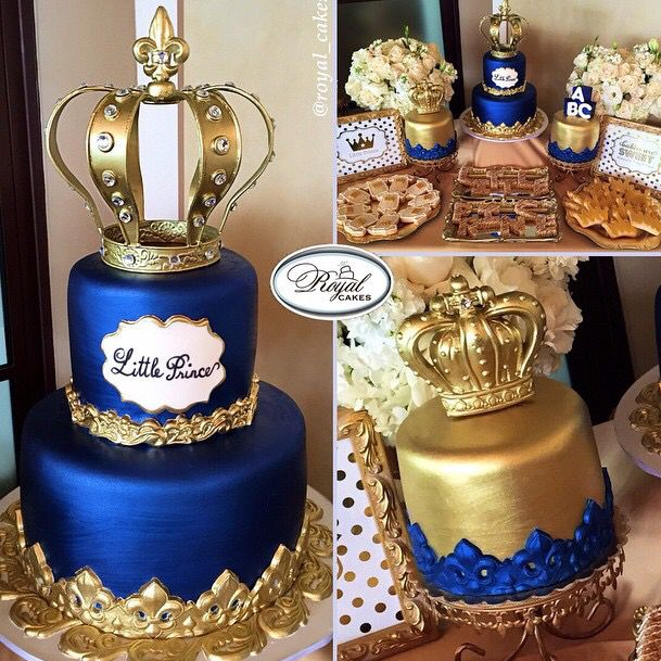 20 Inspired Picture Of Blue And Gold Birthday Cakes With Images
