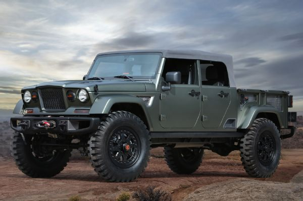 Seven Jeep Concepts Unveiled For The 2016 Easter Jeep Safari Jeep Wrangler Pickup Jeep Concept Jeep Scrambler