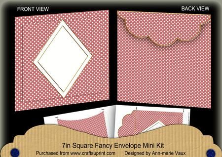 Pink Dotty Diamond 7x7inch Easy Envelope Mini Kit on Craftsuprint - Add To Basket!