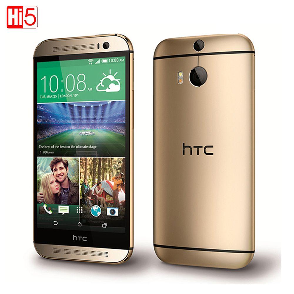 """원래 HTC 한 M8 잠금 해제 휴대 전화 쿼드 코어 GSM 3 그램 및 4 그램 안드로이드 RAM 2 기가바이트 5.0 """"와이파이 GPS 4MP 16 기가바이트 3 카메라 무료 배송"""