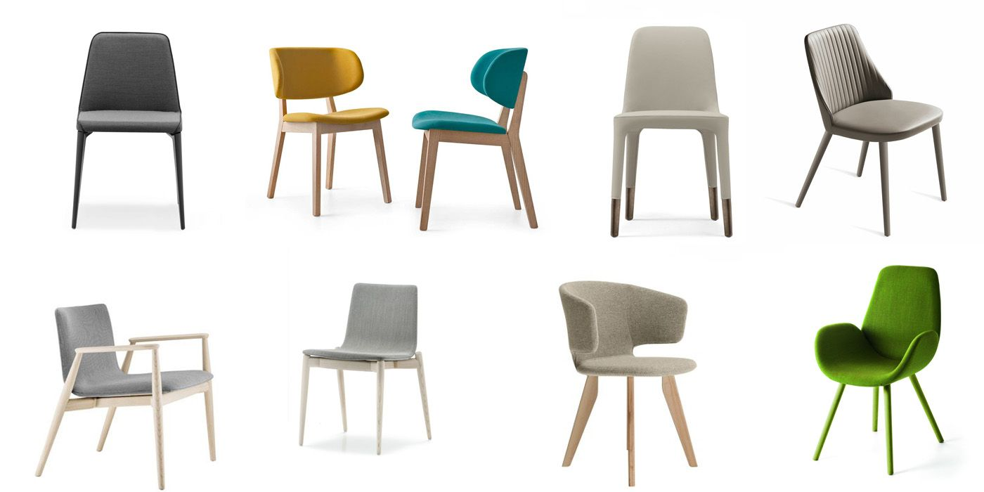 Confortevoli, colorate e imbottite; le sedie imbottite e le ...